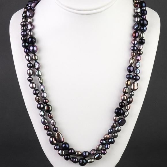 Baroque Tahitian Pearl Necklace - Opera Length